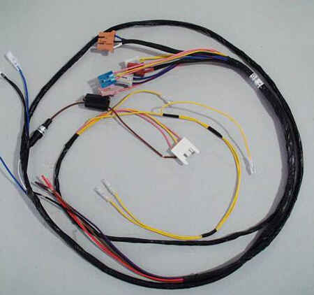 High-quality green wire harness what material manufacturing
