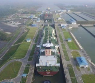 The world's largest LNG ship through the Panama Canal innovation milestone