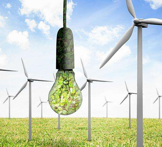How is wind and electricity converted?