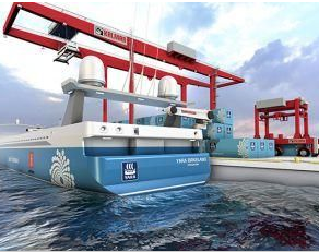 The world's first zero-emission unmanned container ship