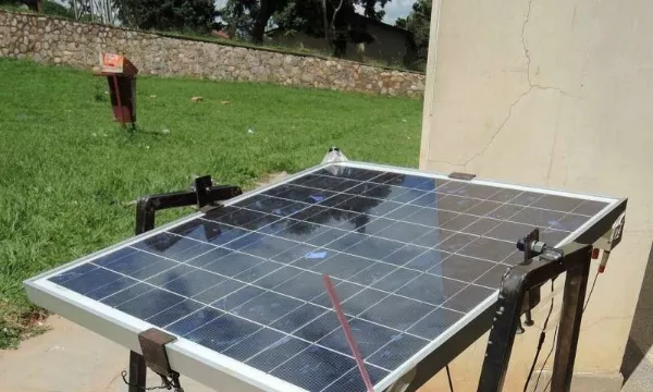 Solar panel efficiency is only increased by one bucket of water?